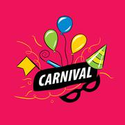 Carnival vector logo - stock illustration