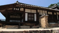 Gyeongju Yangdong village historical building in Gyeongju, Korea. Stock Footage