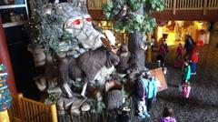 Great wolf lodge resort lobby in Niagara Falls Canada - stock footage