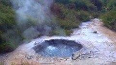 Geothermal land, Rotorua, New Zealand. Stock Footage