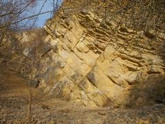 Valuable geological location Muslovka quarry Stock Photos