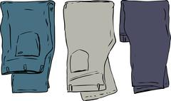Folded Over Pants Stock Illustration