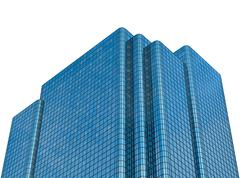 Isolated Modern Glass Office Building Stock Photos