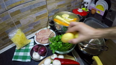 Cooking Sunday Lunch - stock footage