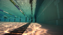Freediving course, rescue training, swimming pool, underwater, HD, UP29114 Stock Footage