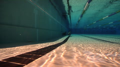 Freediving course, swimming pool, underwater, HD, UP29108 Stock Footage