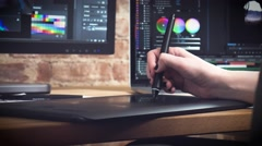 Creative designer working on an art project - stock footage