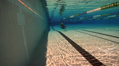 Freediving course, swimming pool, underwater, HD, UP29104 Stock Footage