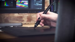 Creative designer working on an art project Stock Footage