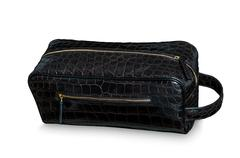 Alligator leather hand bag Stock Photos