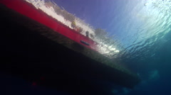 Lone diver entry on water surface, HD, UP19982 Stock Footage