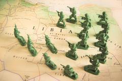 Rebels on Libya territory Stock Photos
