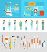 Dental office dentists Stock Illustration
