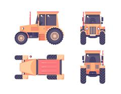 Tractor number one - stock illustration
