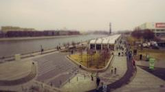 Embankment Gorky Park Stock Footage