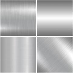 Metal polished textures. Stock Illustration