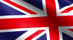 Flag of the United Kingdom Of Great Britain and Northern Ireland, also known as Stock Footage