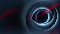 Abstract blue lighting rings with glow animation Stock Footage
