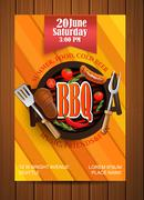 BBQ Grill flyer with elements. Piirros
