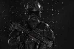 Spec ops police officer Stock Photos