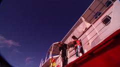 Male model scuba diver entry in Australia, HD, UP20229 Stock Footage