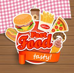 Fast food design template. Stock Illustration