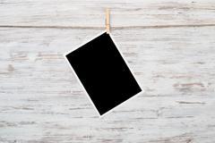 Black photo frame Stock Photos