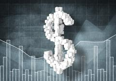 Dollar currency rate - stock illustration