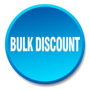 Bulk discount blue round flat isolated push button Stock Illustration