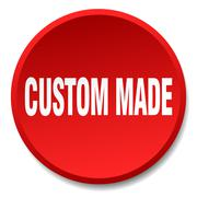 Custom made red round flat isolated push button Stock Illustration