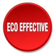 eco effective red round flat isolated push button - stock illustration