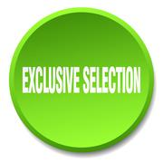 Exclusive selection green round flat isolated push button Stock Illustration