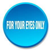 for your eyes only blue round flat isolated push button - stock illustration