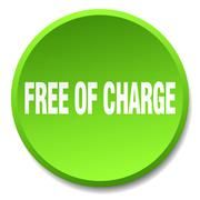 Free of charge green round flat isolated push button Stock Illustration
