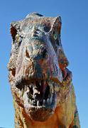 Fearsome carnivore dinosaur Tyrannosaurus Rex - stock photo