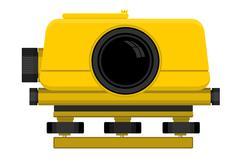 Digital level device - stock illustration