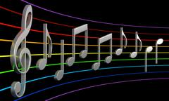 Abstract music notes Stock Illustration
