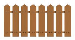 Fence isolated over white background - stock illustration