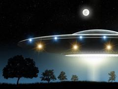 Flying saucer - stock illustration