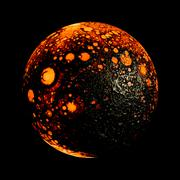 Hot planet - stock illustration