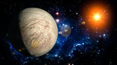 Europa Planet Solar System space isolated - stock illustration