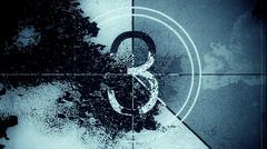 Film Leader Countdown Frame Three Stock Illustration