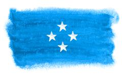 Micronesia flag illustration Stock Photos