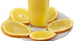 Oranges close up Stock Footage