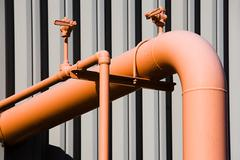 Industrial piping Stock Photos