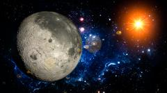 Moon Planet Solar System space isolated - stock illustration