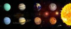 Planets of our solar system - stock illustration