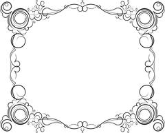 Retro-styled decorative vintage vector frame. Vector illustration. Stock Illustration