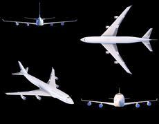 Boeing-747. Plane transport - stock illustration