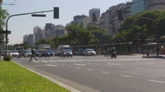 Traffic motion in Downtown Buenos Aires - stock footage